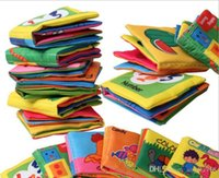 Wholesale 12 styles Baby cloth book for Early learning education cloth toys baby fabric book in english fit Y E142