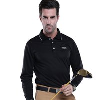 Wholesale PGM Long Sleeve Cotton Golf Shirts Mens Breathable Quick Dry Sports Polo Top T Shirt
