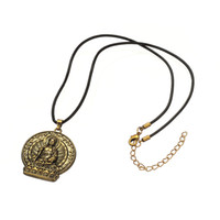 antique medicine - My Shape Pendant Jewelwy Series Zinc Alloy Antique Bronze Plated Medicine Buddha Pendant With Leather Chain Religious Necklace