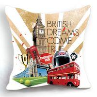 big ben cushion cover - 45CM Cushion Cover Pillow Case Throw Home Sofa Decorative London Big Ben British Dream