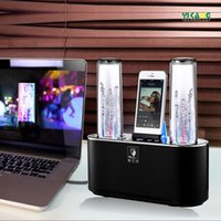 audio towers - New Arrival Dual Tower Water Dancing Speaker stereo Bluetooth Speaker with fountain double water spray Dancing Water Speaker For Smartphone