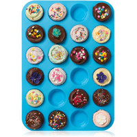 Wholesale Mini Muffin Puncakes Biscuit Pans Cupcakes Silicone Mold Cups Mold Non Stick Tray Bakeware Baking Tools