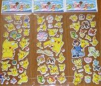 Wholesale Poke Pikachu Sticker cm D Cartoon party Decor book Stickers Avenger paper game children s sticker toys more styles