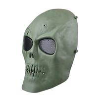 S5Q Paintball Airsoft esqueleto de la cara llena Proteger la máscara de CS campo de protección AAAGFP Máscara