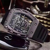 Wholesale Luxury Brand Hot Selling Rubber Strap Men Watches High Quality Casual Skull Men s Watches Quartz Wristwatch Color