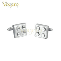 Wholesale Christmas Trendy Cufflinks For Men K Gold Plated Sterling Silver Lego Puzzle France Style Cuff Links Gemelos