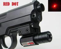 adjustable pistol sights - Red Dot Laser Sight for Gun Rifle Pistol with nm Adjustable mm mm Picatinny Weaver Mount Laser Sights For Guns