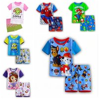 pajama - 486 styles Brand New summer suits children clothing baby boys girls cotton short sleeve tops shorts pajama sets kids clothes T