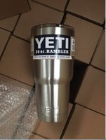 Wholesale Dropshipping YETI Stainless Steel oz Yeti Cups Cooler YETI Rambler Tumbler Cup Vehicle Beer Mug Double Wall Bilayer Vacuum Insulated ml