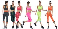 sexy clothing wholesale - High Quality Sports Yoga Clothing for Femme Fashionable Slim Fit Sets Sexy Ladies Activewear Clothing