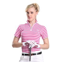 Wholesale Brand Golf shirts for women ladies golf polo quick dry shirt sports clothing fashion short sleeve polyester golf shirts