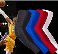 Wholesale oneycomb Pad Elastic Gym Sport Basketball Arm Sleeve Shooting Crashproof Elbow Support Pads Elbow Protector KKA675