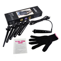 Wholesale 5 in Curling Wand Set Hair Curling Tong Hair Curling Iron The Wand Hair Curler Roller Gift Set mm with Curling Wand