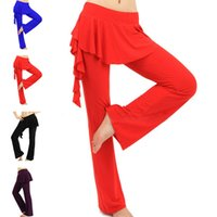 belly dance pants plus size - Hot Sale Latin Dance Pants Belly Dance Pants Practice Performance Dancewear Stage Competition Dancing Trousers Plus Size UA0076 salebags