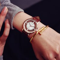 analog fan - Fashion Super Star Dragon EXO Same Section Hollow Watches Unique Stylish Women Men Casual Quartz Wristwatch Fans Clock