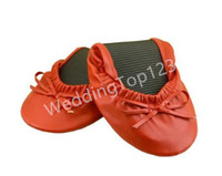 ballet shoes for weddings - Women s Ballet Flats Foldable Flats WITH EXPANDABLE TOTE BAG for Carrying High Heels Fold up ballet shoes great for Weddings Bridal Parties