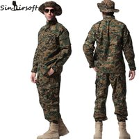 Wholesale Outdoor Tactical Camouflage Suit Military Uniform Ghillie Hunting Clothes Jacket Pants Shirt Airsoft Paintball War Game