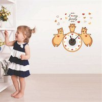 bear wall clock - Clocks Wall Clocks Hot Promotion Cartoon Bear D Wall Clocks DIY Children s Room Decor Wall Stickers Removable Wall Clocks QT512