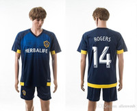 beckham set - Los Angeles Galaxy soccer jersey football uniform home away kit men kits man jerseys uniforms set gerrard rogers beckham sets