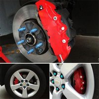 Wholesale 2XUniversal Car Auto D Disc Brake Caliper Covers Decoration Front And Rear RD ABS for Inch Wheels Size C24