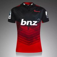 Wholesale New Zealand Rugby Club Crusaders Jerseys Men Zealand Red Black colors clothings size S XL Shirt Can custom name number or team logod