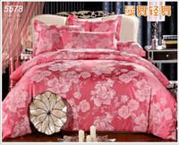 ab duvet - luxury wedding silk bedding set wide edge artificial silk bed covers AB sides satin silk cotton duvet cover bed set