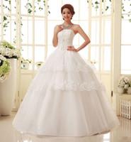 Wholesale Korean version of tutu bridal gown wedding dress yarn Korean version was thin Slim bra strap wedding