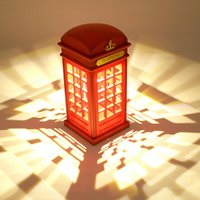ambient lighting design - London phone booth retro design LED Nightlight USB charging ambient lighting