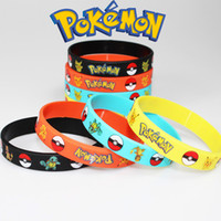 Wholesale Poke mon Bracelets Pocket Monster Silicone Wristband Soft Silicone Wrist Straps Best Gofts For kids colors