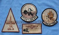 aviation jackets - US Navy VFA Tomcat Aviation person TOMCATTERS squadron sand colored jacket chapter badge