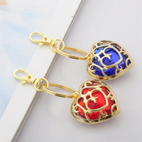 Wholesale Hot Keychain Favors Zelda Pendant Christmas Gifts Wedding Straps Charms Key Chain Sweet Crystal Heart Diamond