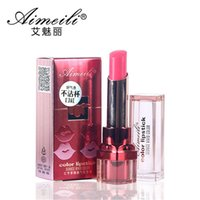 beauty dates - Aimeili red date health lipstick lasting moisturizing matte lipstick good quality lip gloss health beauty makeup color Plant formula
