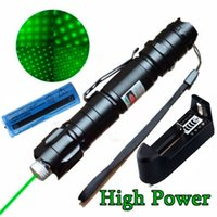 Wholesale Hot New High Power Military Miles nm Green Laser Pointer Pen Visible Beam Lazer with Star Cap D051