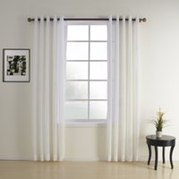 Wholesale Jacquard White Contemporary Sheer Curtains Grommet Top With Custom Multi Size