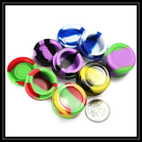 ball shaped food - Food Grade Wax Oil Containers Silicone Jars Dab In Wax Container Tin Dab mL mL mL mL mL Triangle Ball Shape Silicone Case Box