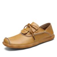 Precio de Los hombres hechos a mano de los zapatos oxford-Nuevos zapatos de vestir para hombre Zapatos de oficina de Oxford de cuero genuino para hombres Zapatos de cuero para hombres