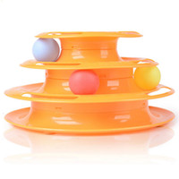 Wholesale Funny cat toy catlike turn the ball cat playing with a ball three crazy game disc