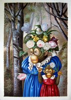 Wholesale Monkey Wedding Genuine Handpainted Animal Art oil Painting On Canvas Museum Quality in any size chosen
