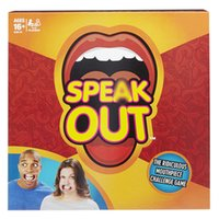 Wholesale Zorn toys Hasbro Speak Out Game Board Card game Mouth Guard Party Games Braces toy games Spoof Funny Toys Christmas gift
