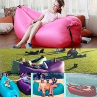Wholesale Inflatable Fast Airsleep Camping Bed Hangout Air Filling Sleeping Bed Summer Outdoor Beach Sofa Lounger Lazybones Beds