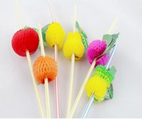 bbq day - Fashion Assorted Multicolor Plastic Fruit Cocktail Drinking Straw BBQ Hawaiian Party Theme Decoration G087 C
