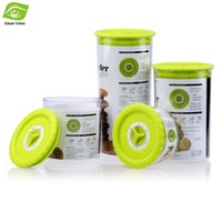 bamboo canister set - 4pcs Set Kitchen Canisters Sealed Plastic Food Containers Storage Box with Rotary Button for Time Reminding