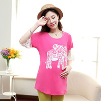 Wholesale Maternity Shirt Pregnancy Clothing Tees plus size Cotton Nursing Top Breast Feeding For Pregnant Women Gravidas Lactation Wear
