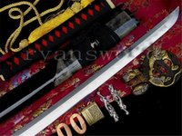 authentic japanese katana - Authentic Fully Hand Forged Practical Tiger Japanese Sword Samurai Katana Made In LongQuan