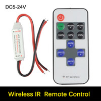 Wholesale DC5 V Keys LED Strip Wireless Controller Remote Control For Single Color Led Strip Light