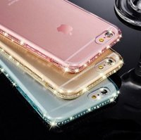 apple blog - SMAKN New From Blog luxury Crystal Diamond Ultra Gel Transparent Phone Box Cover for iPhone S S Beyond The Cover Of case back bags