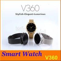 Smart Bluetooth V360 Montre Smartwatch avec affichage LED Baromètre Alitmètre Music Player podomètre pour Android IOS Mobile Phone + Retail 20