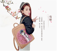 acrylic interior paint - The original design hand painted portable backpack fashion handbag diagonal tourism products factory direct