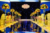 all'ingrosso stainless steel flower vase-Wedding decorazione da tavola di fiori si distingue piombo strada T-Stage in acciaio colonne d'acciaio metallo fiore vaso di centro della tabella molti formato da scegliere