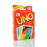 Wholesale 1pc Family Funny Entertainment Board Game UNO Fun Poker Playing Cards Puzzle Games Standard uno card